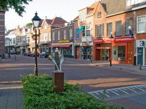 De winkelstraat van Overveen